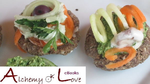 alchemy of love ebook mindful eating raw vegan recipes mini bread and spinach dips