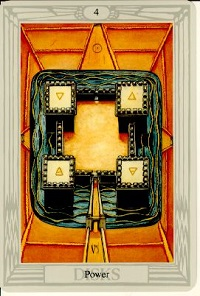 Spiritual Meaning of Numbers, Symbolism of number four Crowley Tarot Card