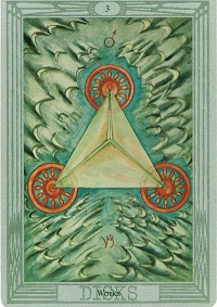 Spiritual Meaning of Numbers, Symbolism of number three Crowley Tarot Card