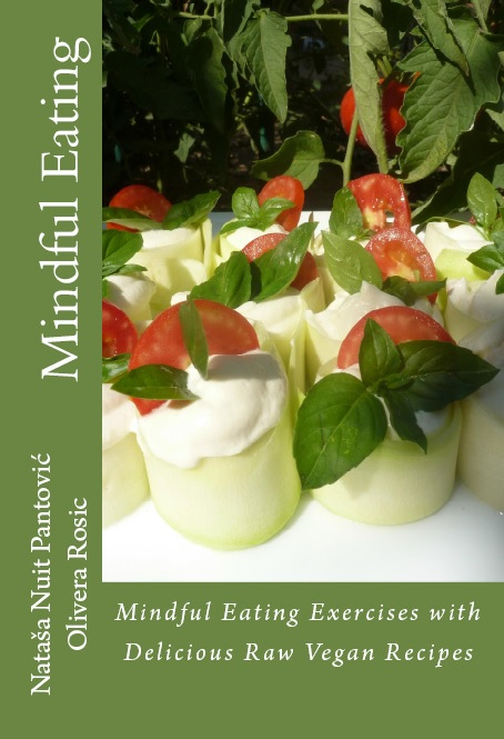 mindful eating raw vegan recipes book cover