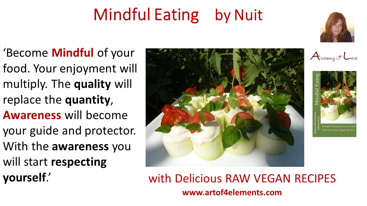 How to eat mindfully quote from Mindful Eating book by Nuit