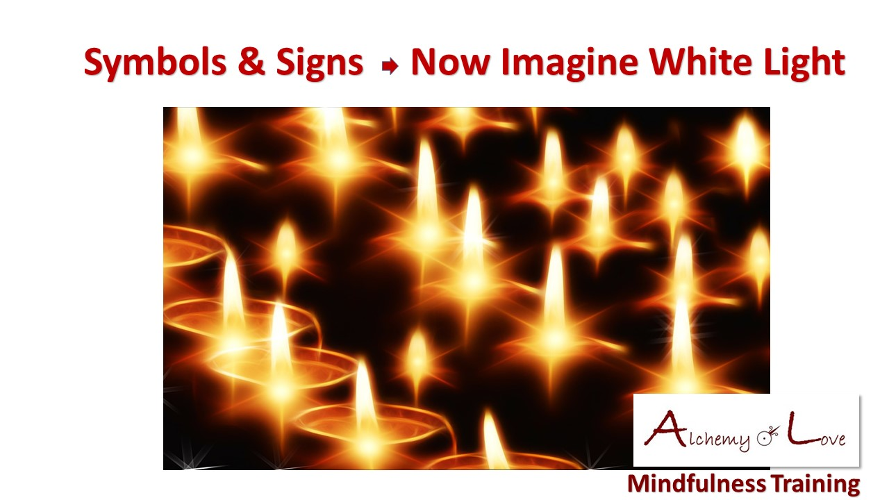 Now imagine white light candles meditation spiritual meaning