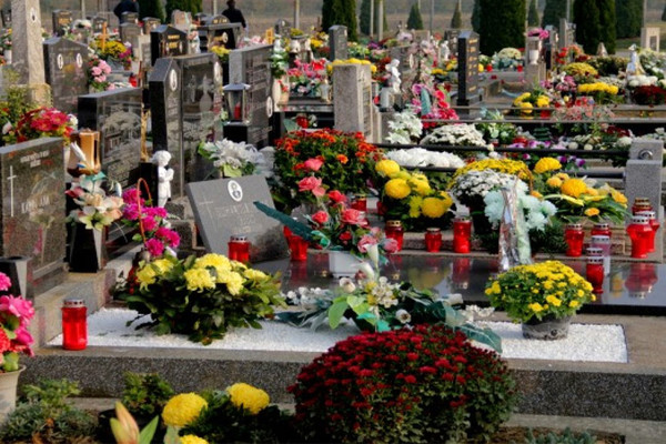 Halloween Spiritual Practices: respecting ancestors flowers graveyard