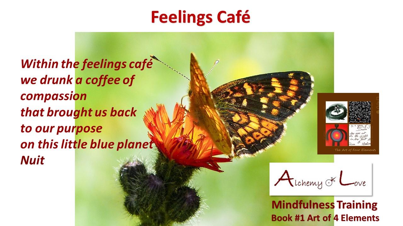 feelings cafe Art of 4 Eleents poem by Nataša Pantović Nuit