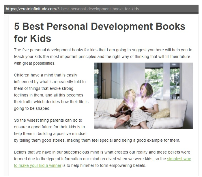 5 best personal development books for kids Conscious Parenting list