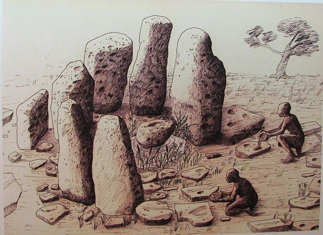 Megalithic structure at Atlit Yam, Israel Mysticism of Ancient Temples