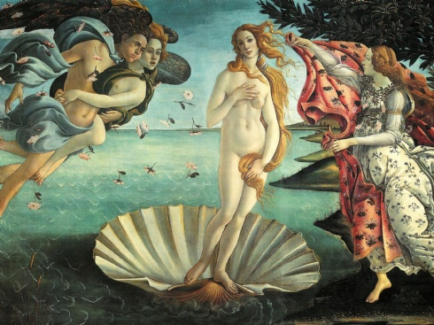 the-birth-of-venus-Botticelli four elements within birth of Venus