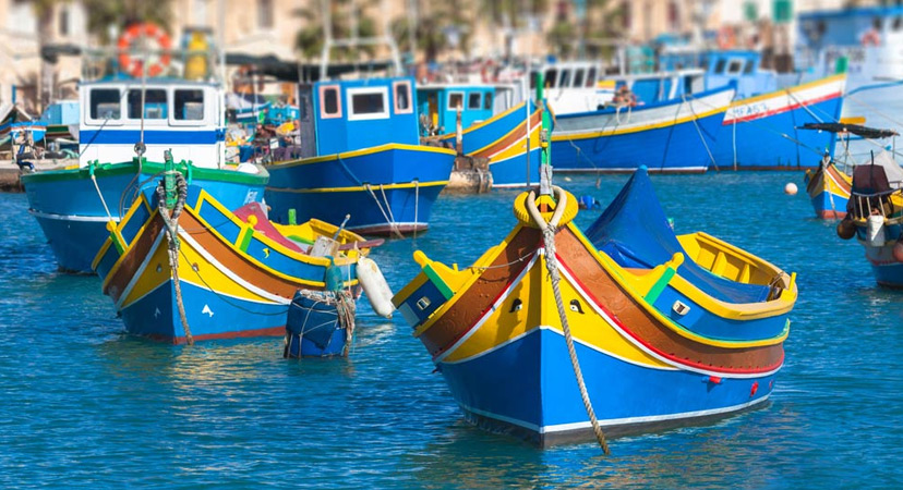 Luzzu boat in Malta with the Eye of Horus or of Osiris on their bow