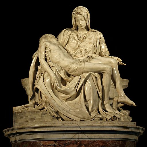 Michelangelo's Pietà in St. Peter's Basilica in the Vatican 1499