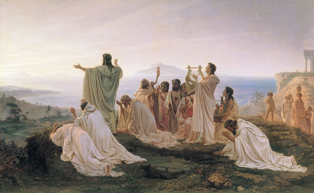 Pythagoreans Celebrate the Sunrise (1869) by Fyodor Bronnikov