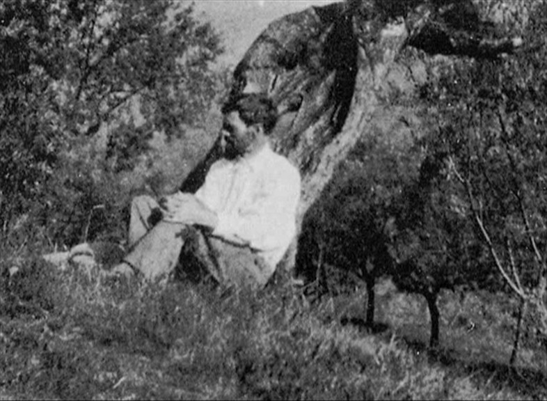 D H Lawrence in Tuscia Rome Italy photo