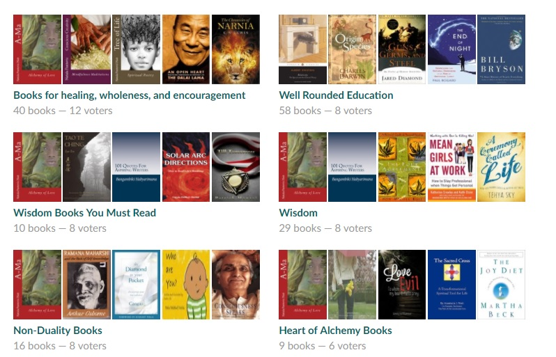 wisdom nonduality alchemy books best goodreads lists with Ama and Tree of Life