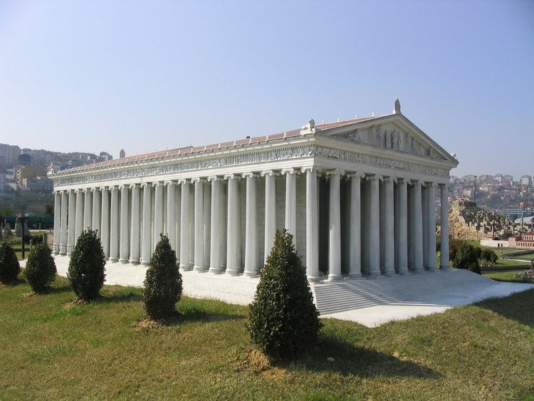 Model of the Temple of Artemis Istanbul Turkey