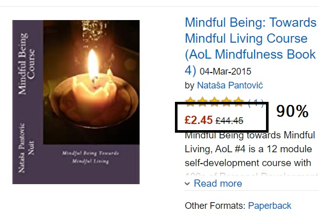 Mindful Being towards Mindful Living by Natasa Pantovic Huge Discounts for Prime Day