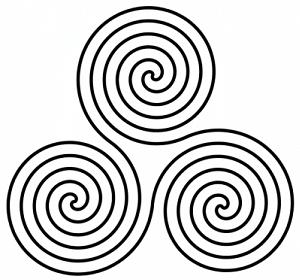 Symbols and signs: Signs and symbols meaning, Trinity spiral, sacred symbols