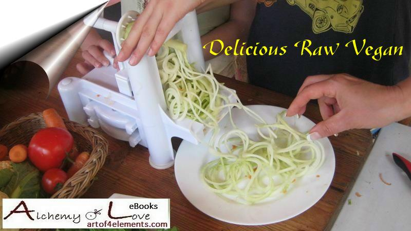 cut spaghetti raw vegan recipes ebook