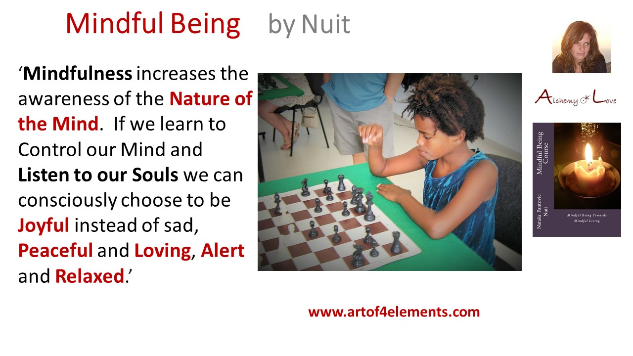 Alchemy of love mindfulness training book: Mindful Being by Nuit quote about personal development