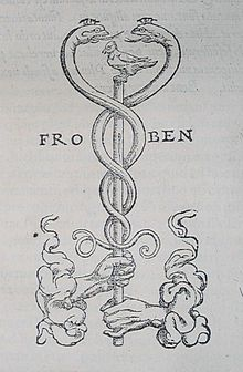 Occult symbol caduceus