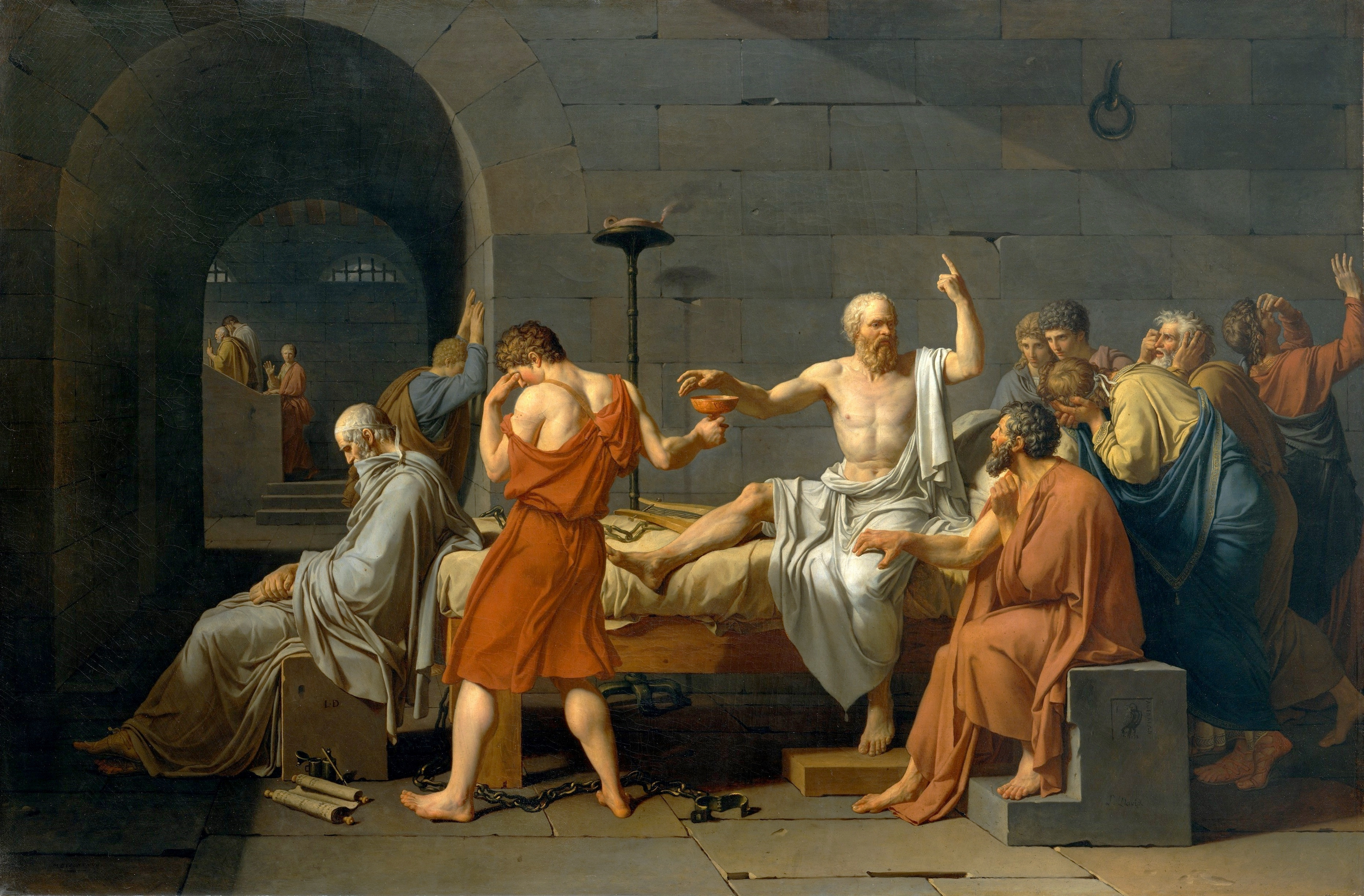 Death_of_Socrates 1787 Jacques Louis David