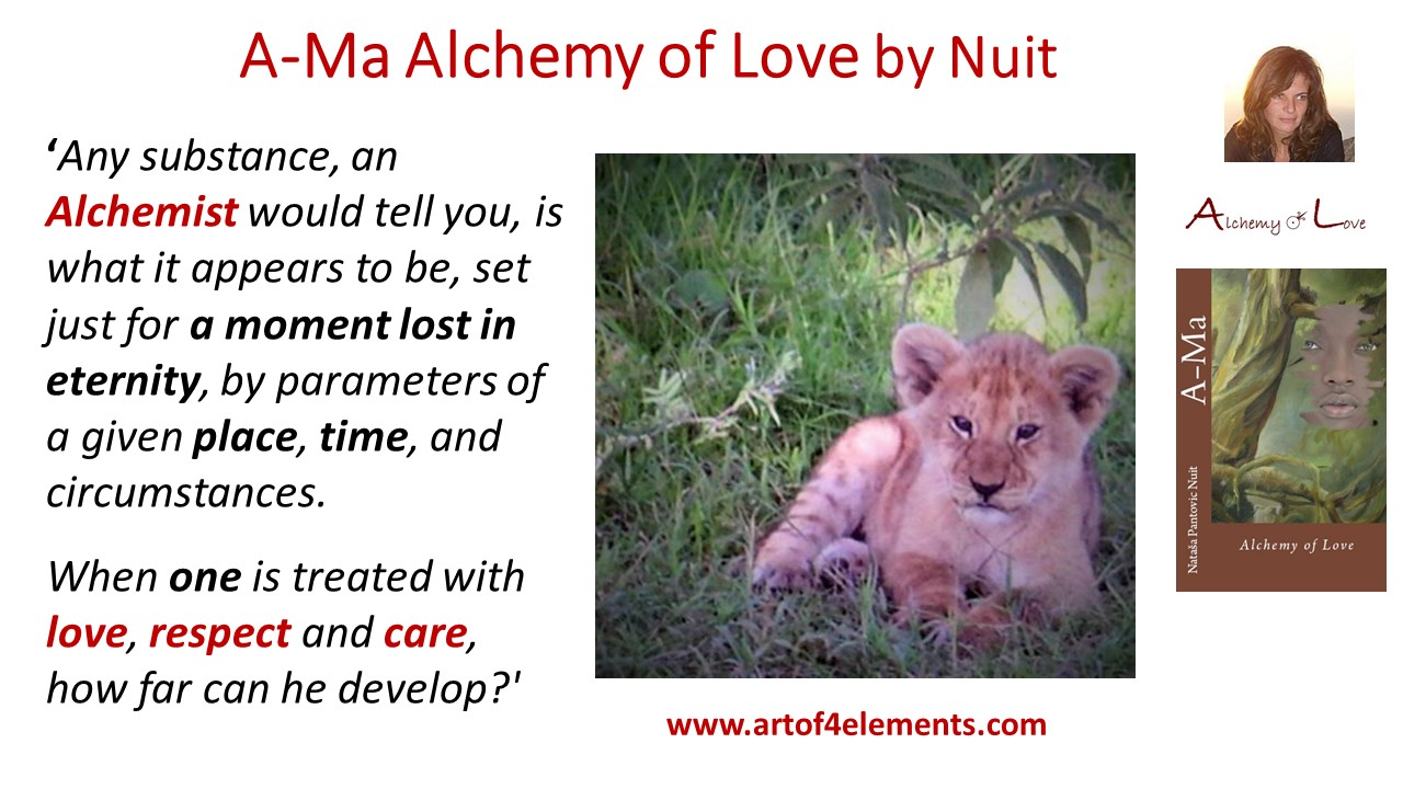 Ama Alchemy of Love Book Quote by Nataša Pantović Nuit