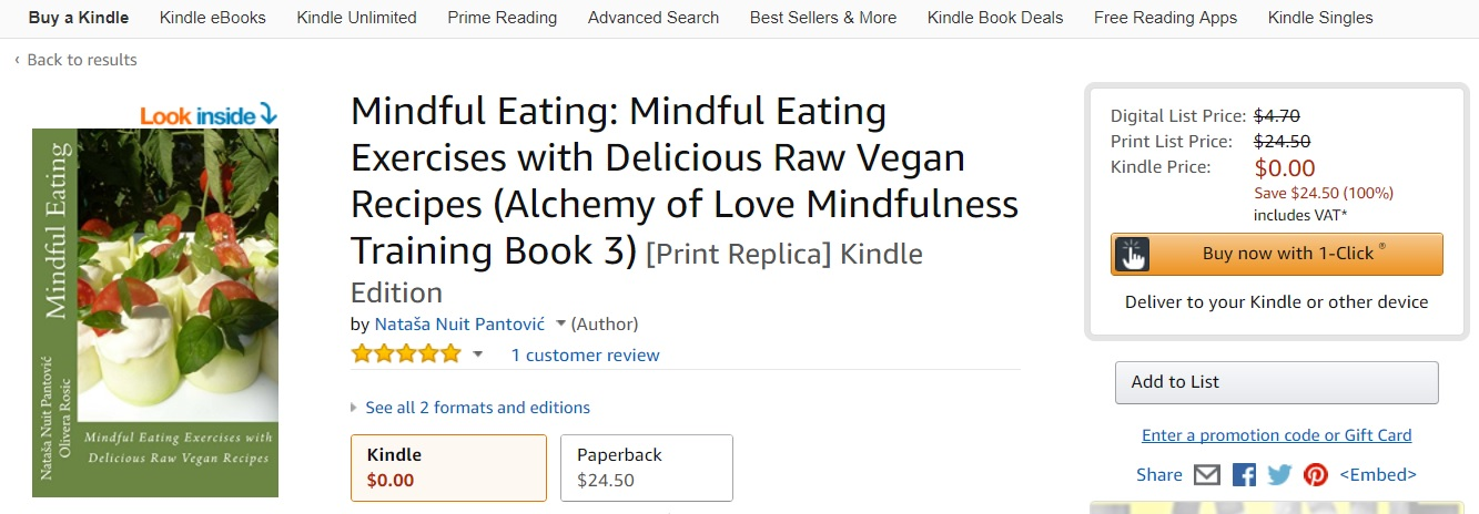 Happy Thursdays Mindful Eating Book available to READ for FREE