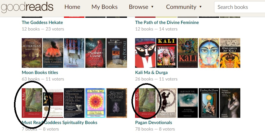 Must Read Goddess Spirituality Books at Goodreads with Ama Alchemy of Love