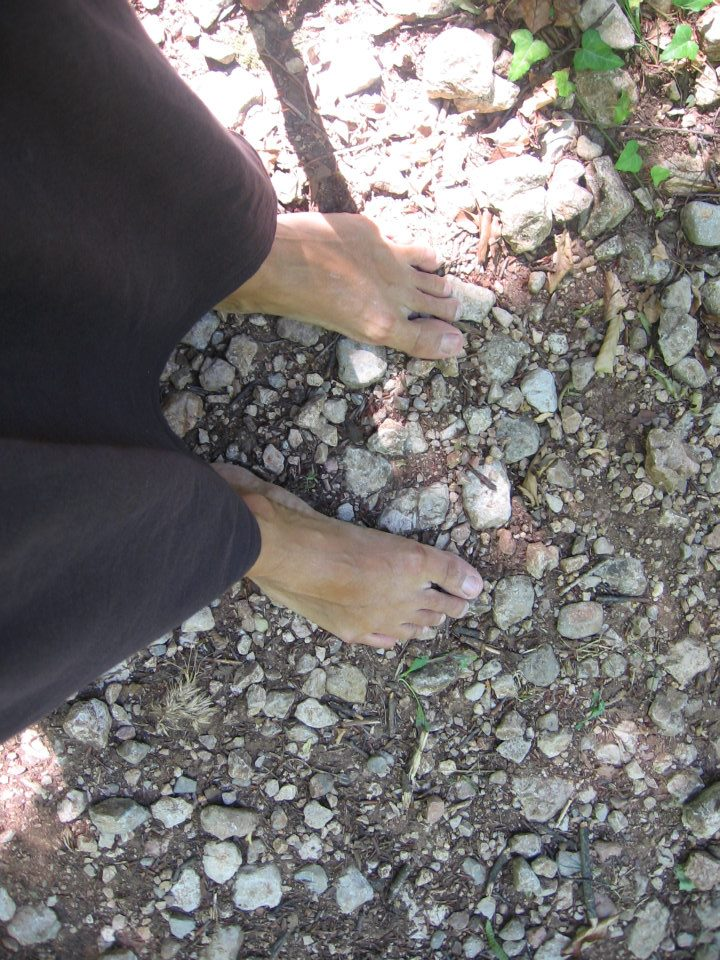 conscious living walking barefoot and vegetarianism