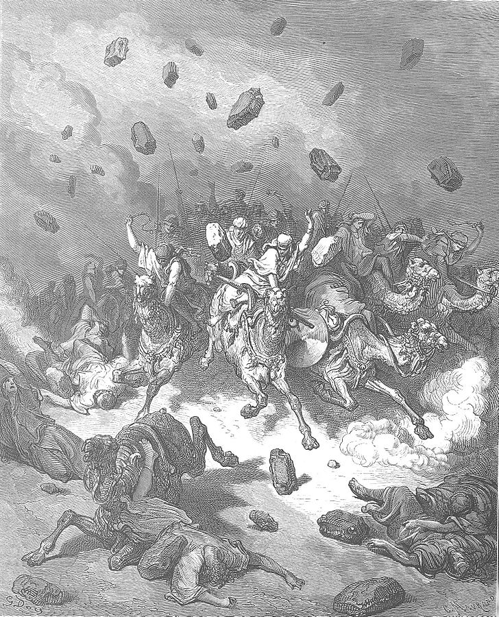 Destruction of the Army of the Amorites by Gustave Dore
