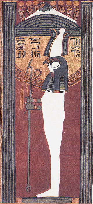 Sokar-Osiris from Papyrus of Ani Ancient Egypt falcon god in Egyptian religion linked to Ptah and Osiris in the underworld
